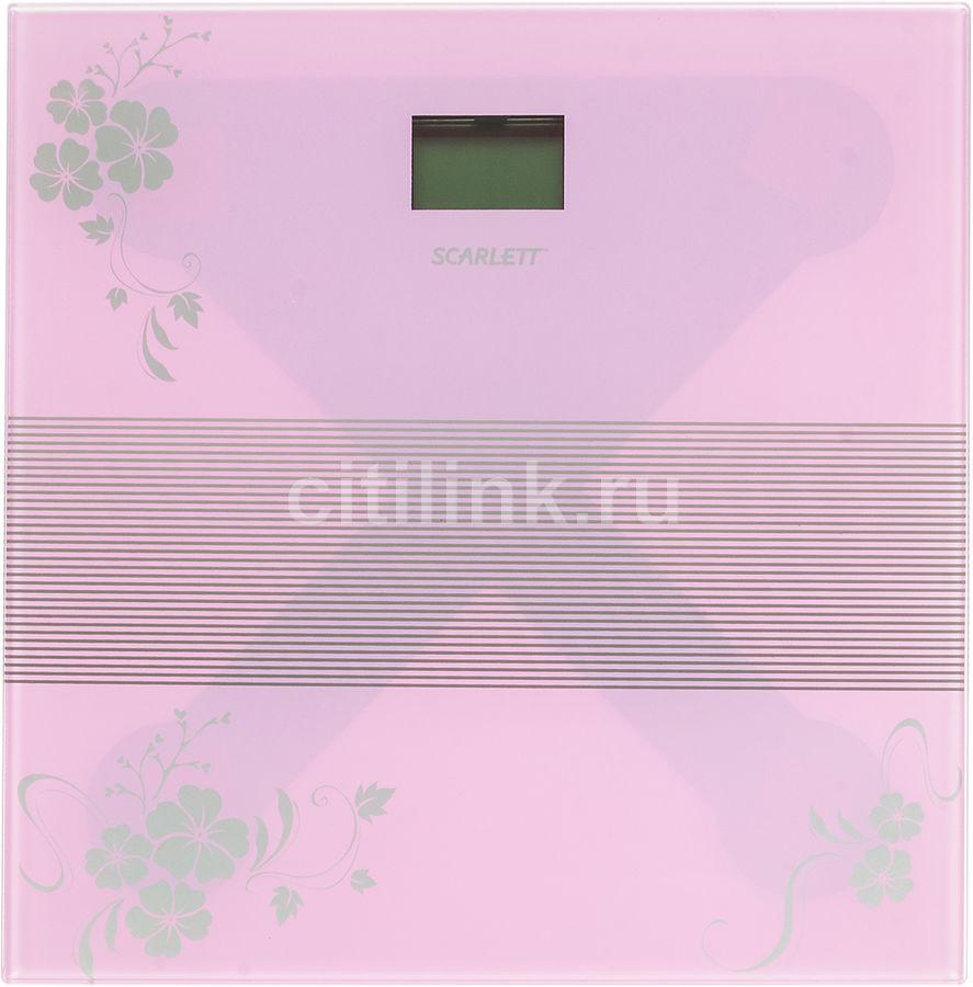 Весы SCARLETT SC-BS33E060, до 150кг, цвет: фиолетовый/рисунок [sc - bs33e060]