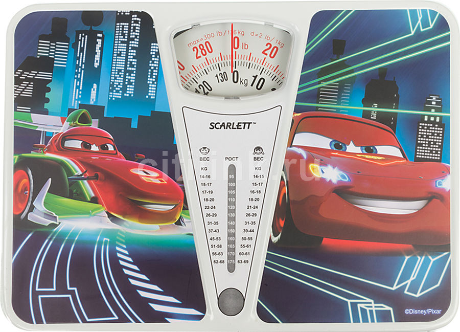 Весы SCARLETT SC-BSD33M952, до 130кг, цвет: рисунок/тачки [sc - bsd33m952]