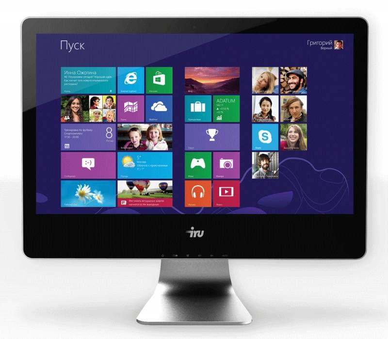 Моноблок IRU Office T2112, Intel Core i5 4460, 4Гб, 1Тб, Intel HD Graphics 4600, DVD-RW, noOS, черный [339902]