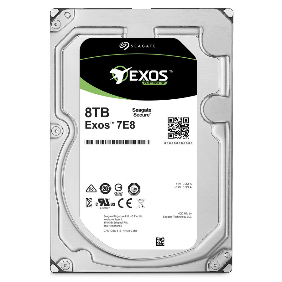 Жесткий диск SEAGATE Enterprise Capacity ST8000NM0055,  8Тб,  HDD,  SATA III,  3.5