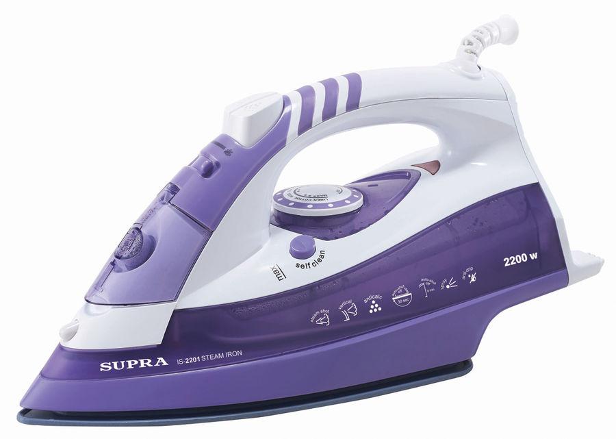Утюг Supra IS-2201 2200Вт бело-фиолетовый