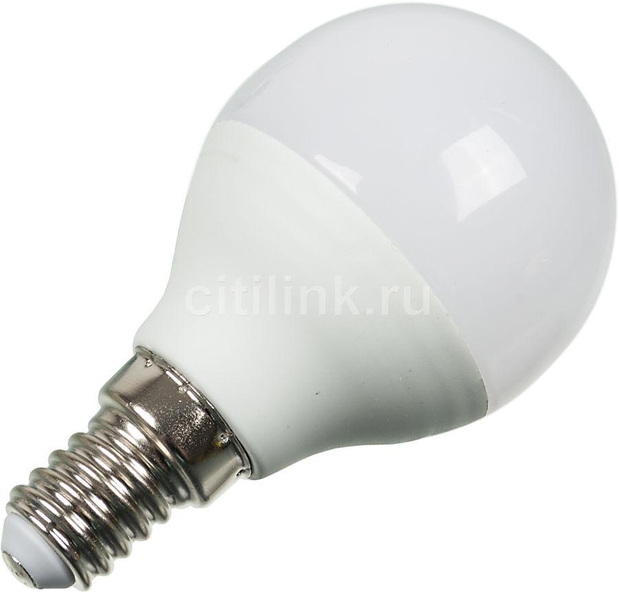 Лампа ЭРА P45-7w-840-E14, 7Вт, 600lm, 30000ч,  4000К, E14,  1 шт. [б0017222]