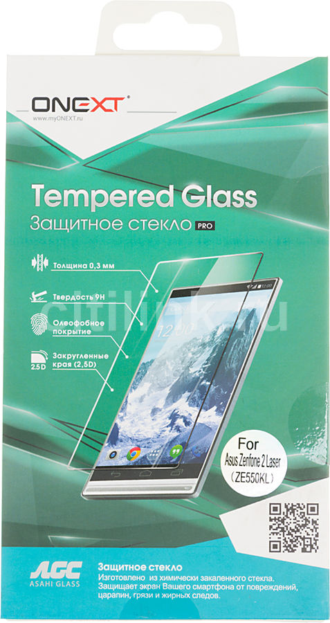 Защитное стекло для экрана ONEXT для Asus Zenfone 2 Laser ZE550KL,  1 шт [40998]