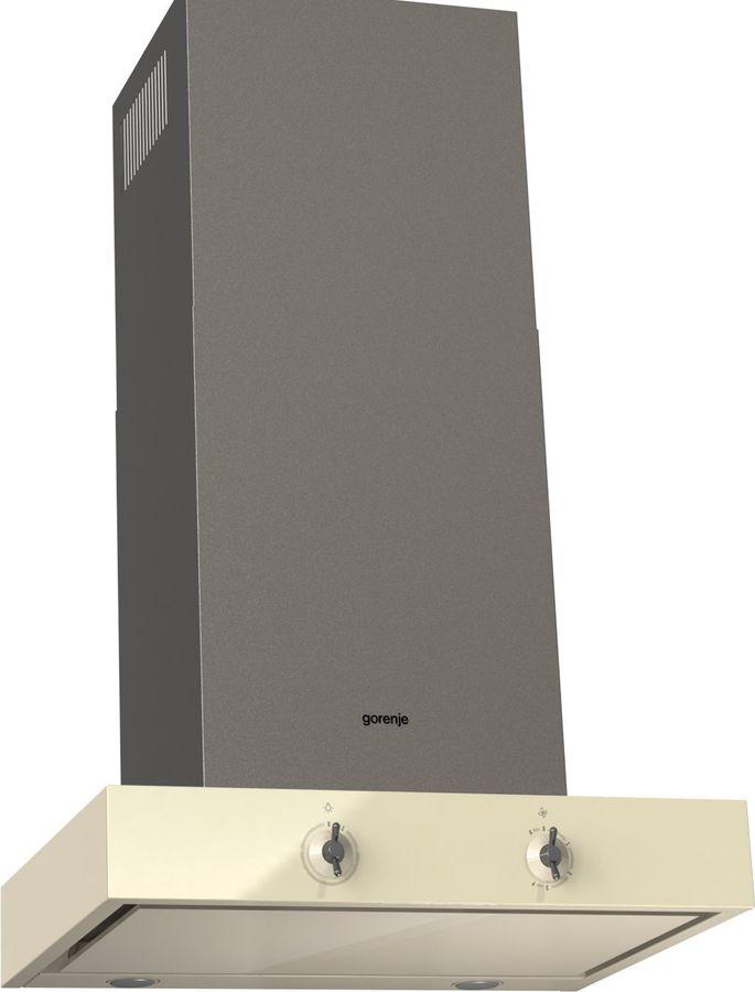 Вытяжка каминная Gorenje Infinity WHT68AINI бежевый/платиновый управление: тактовое (1 мотор)