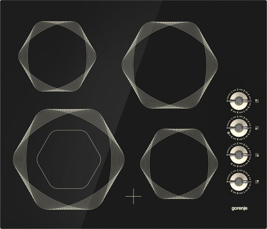 Варочная панель GORENJE Infinity EC6INI,  Hi-Light,  независимая,  черный