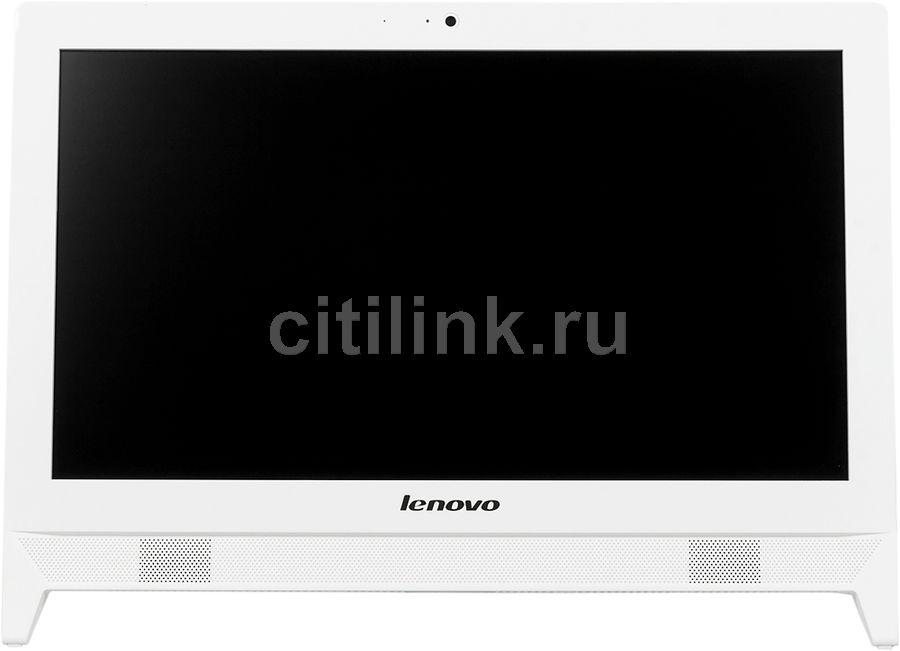 Моноблок LENOVO C20-00, Intel Celeron N3050, 4Гб, 500Гб, Intel HD Graphics, DVD-RW, Free DOS, белый [f0bb003frk]