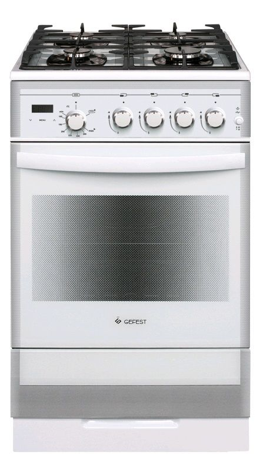 Газовая плита GEFEST ПГ 5500-03 0042,  газовая духовка,  белый