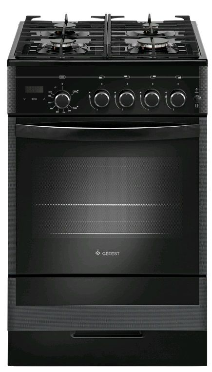 Газовая плита GEFEST ПГ 5500-03 0044,  газовая духовка,  черный