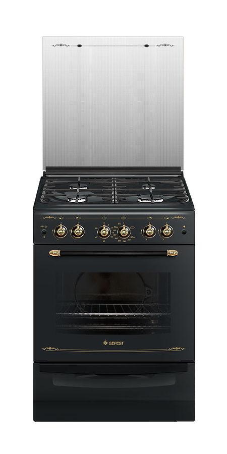 Газовая плита GEFEST ПГ 6100-02 0083,  газовая духовка,  черный