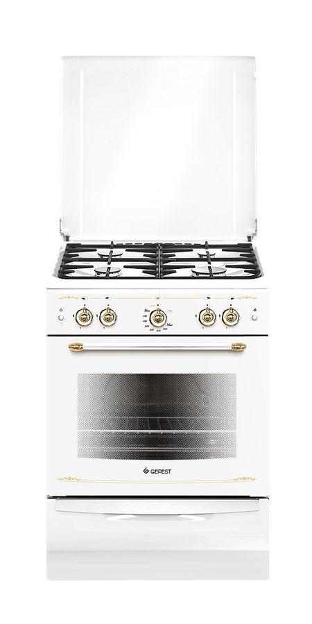 Газовая плита GEFEST ПГ 6100-02 0085,  газовая духовка,  белый