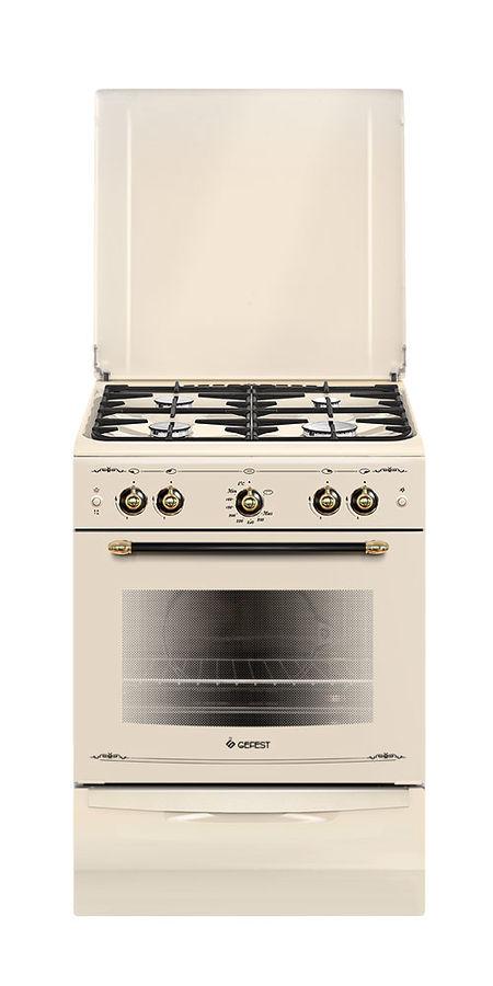 Газовая плита GEFEST ПГ 6100-02 0086,  газовая духовка,  бежевый