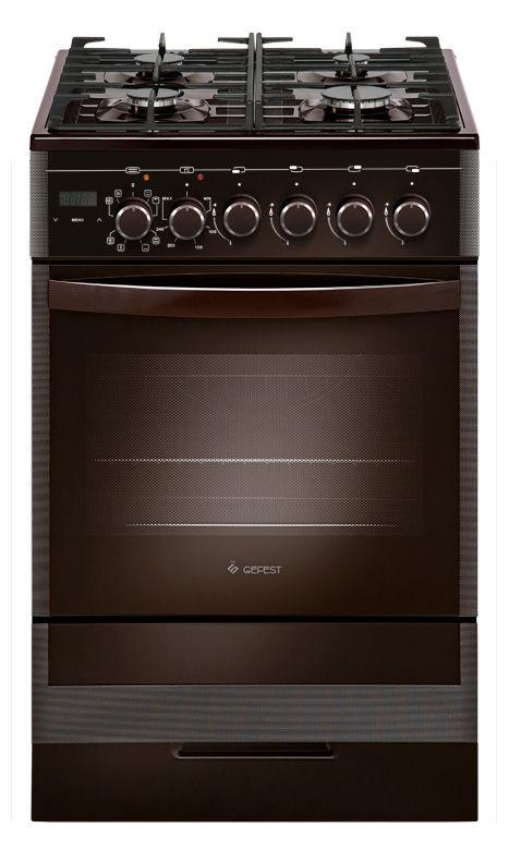 Газовая плита GEFEST ПГЭ 5502-03 0045,  электрическая духовка,  коричневый
