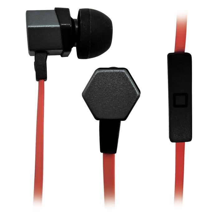 Гарнитура BBK EP-1540S, вкладыши,  серый/оранжевый, проводные