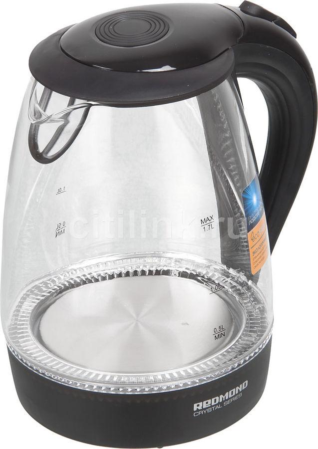 Чайник Redmond RK-G161 1.7л. 2200Вт черный (стекло) (отремонтированный)