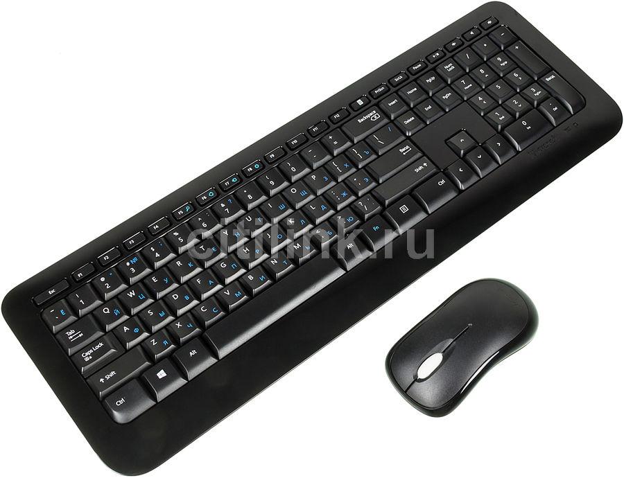 Комплект (клавиатура+мышь) MICROSOFT 850, USB, беспроводной, черный [py9-00012]