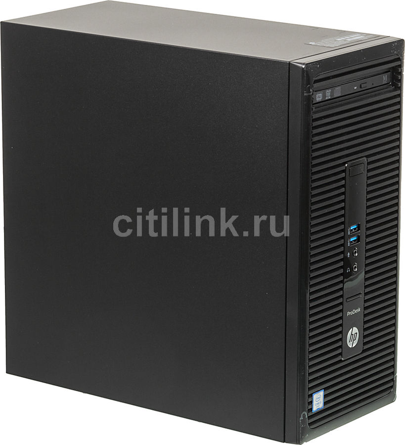 Компьютер  HP ProDesk 400 G3,  Intel  Core i3  6100,  DDR4 4Гб, 500Гб,  Intel HD Graphics 530,  DVD-RW,  Free DOS,  черный [t4r51ea]