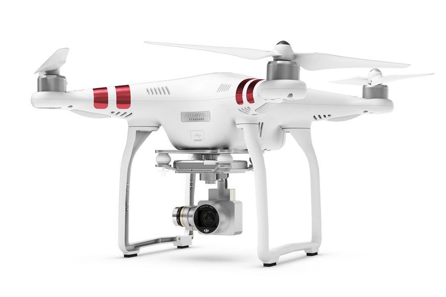 Квадрокоптер DJI Phantom 3 Standard с камерой,  белый [51755]