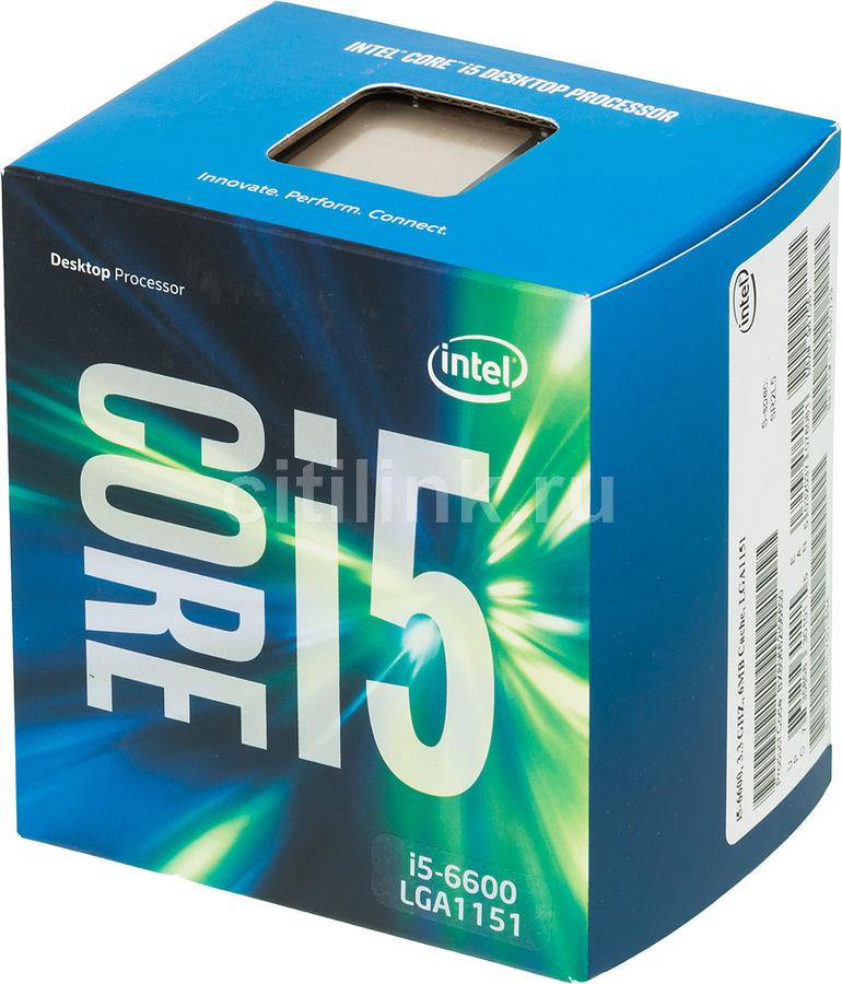Процессор INTEL Core i5 6600, LGA 1151 * BOX [bx80662i56600 s r2l5]
