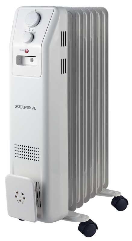 Масляный радиатор SUPRA ORS-07-SN, 1500Вт, белый