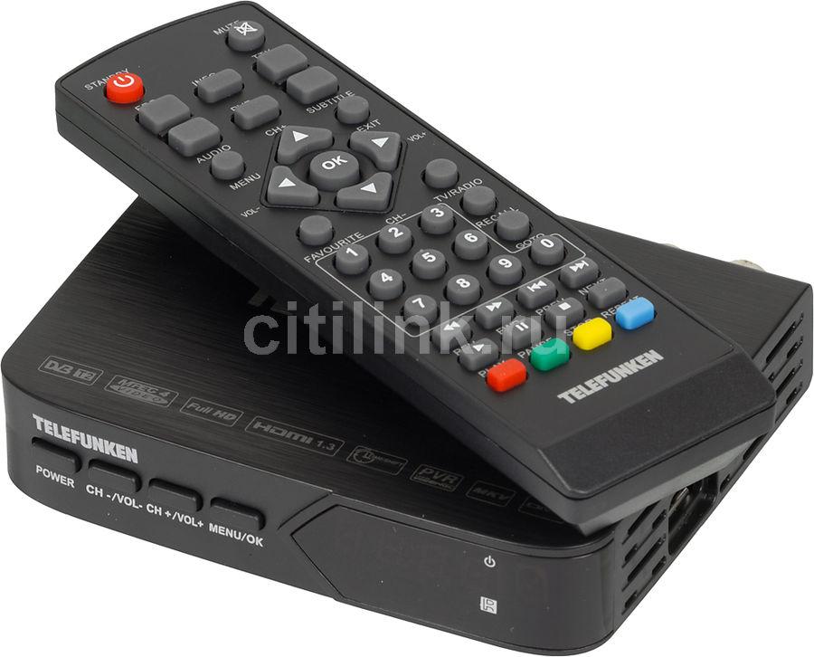 Ресивер DVB-T2 TELEFUNKEN TF-DVBT210,  черный [tf-dvbt210(черный)]