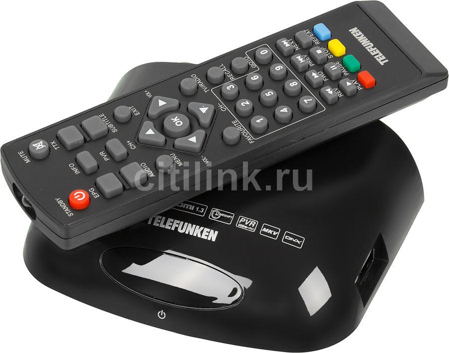 Ресивер DVB-T2 TELEFUNKEN TF-DVBT211,  черный [tf-dvbt211(черный)]