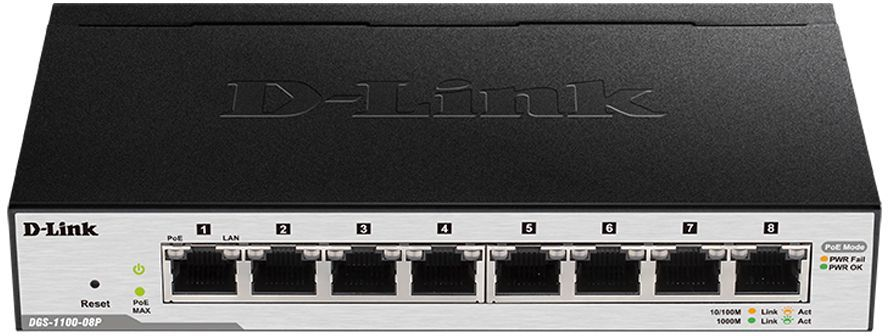 Коммутатор D-LINK DGS-1100-08P/A1A
