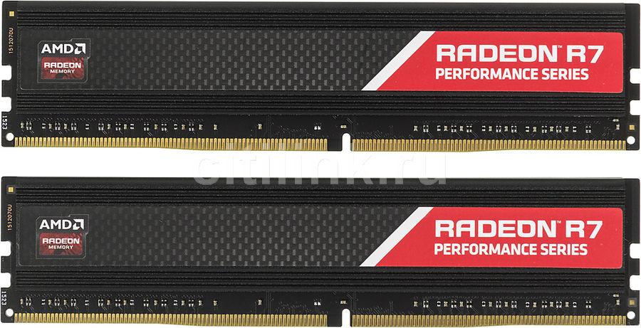 Модуль памяти AMD Radeon R7 Performance Series R748G2133U1K DDR4 -  2x 4Гб 2133, DIMM,  Ret