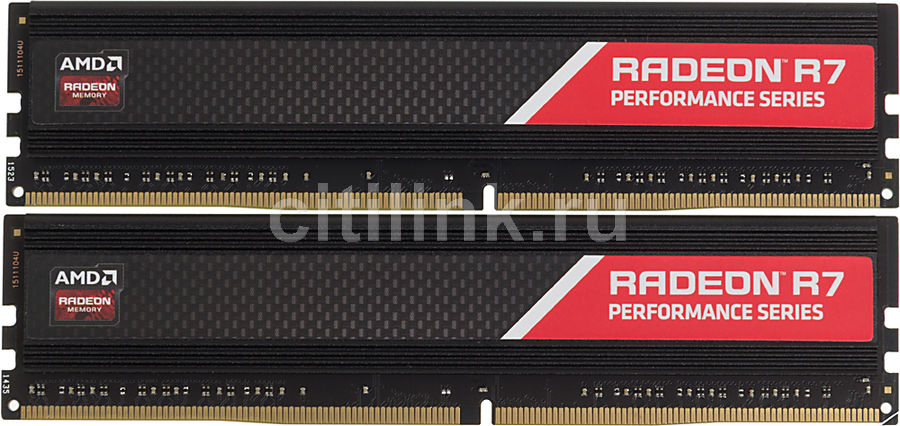 Модуль памяти AMD Radeon R7 Performance Series R738G2400U1K DDR4 -  2x 4Гб 2400, DIMM,  Ret
