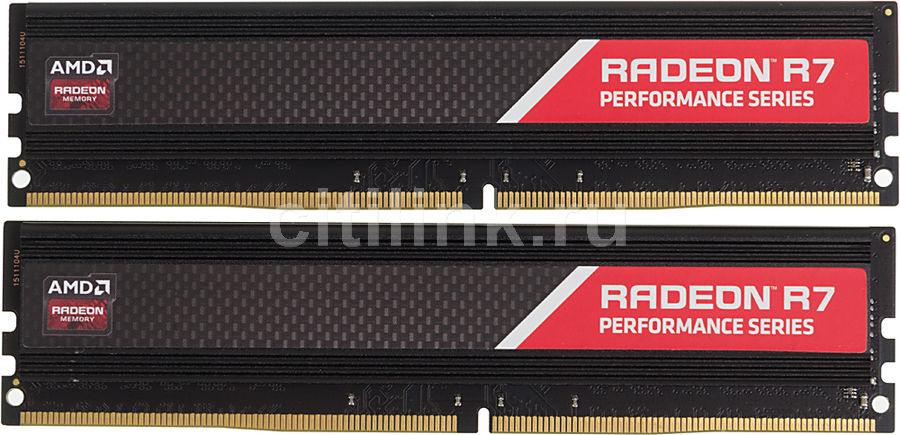 Модуль памяти AMD Radeon R7 Performance Series R7416G2400U2K DDR4 -  2x 8Гб 2400, DIMM,  Ret