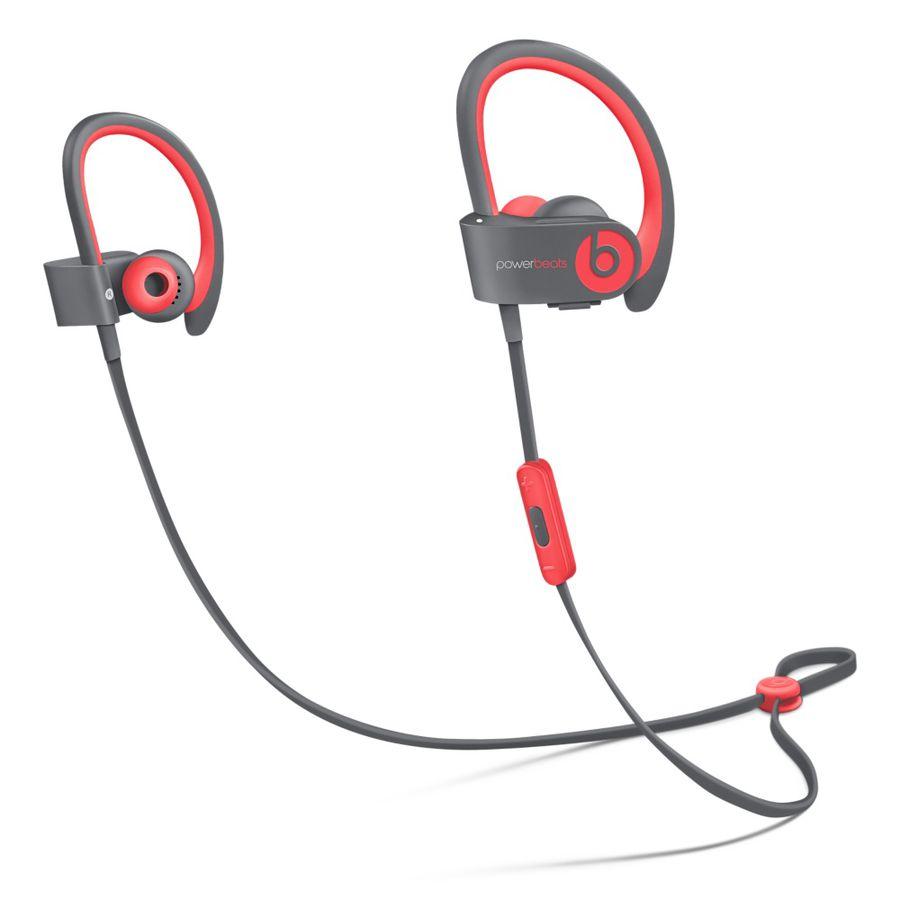 Наушники BEATS Powerbeats 2 WL Active Collection, MKPY2ZE/A, красный/серый, беспроводные bluetooth