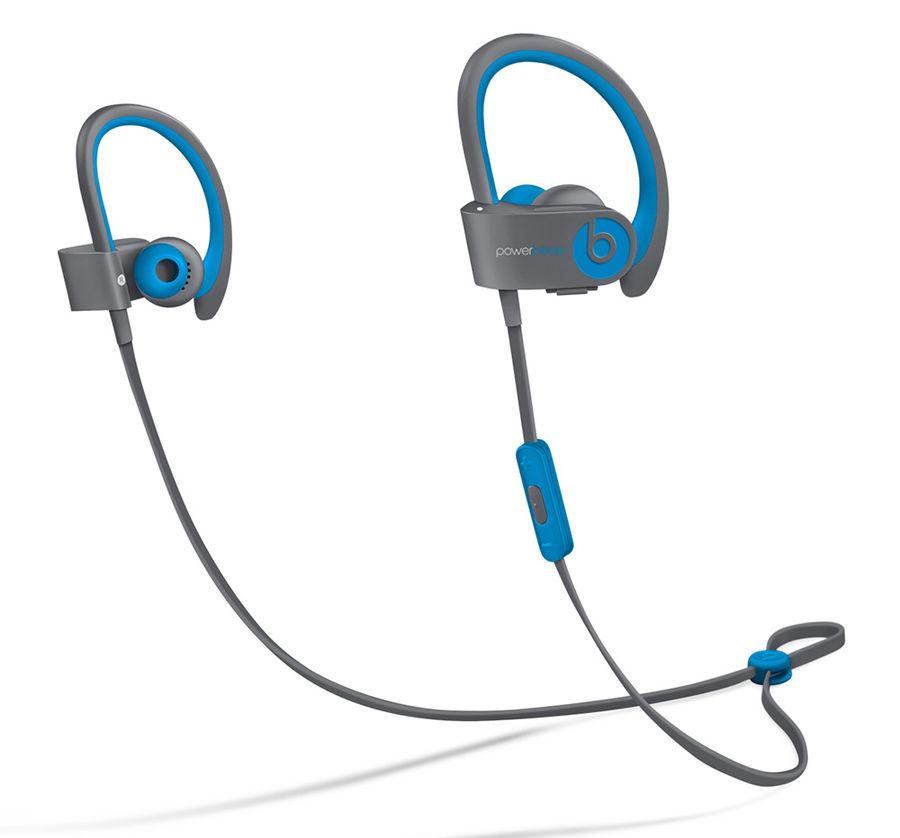Наушники BEATS Powerbeats 2 WL Active Collection, MKQ02ZE/A, светло-голубой/серый, беспроводные bluetooth