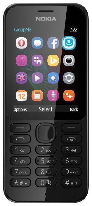 Мобильный телефон Nokia 222 черный моноблок 2.4