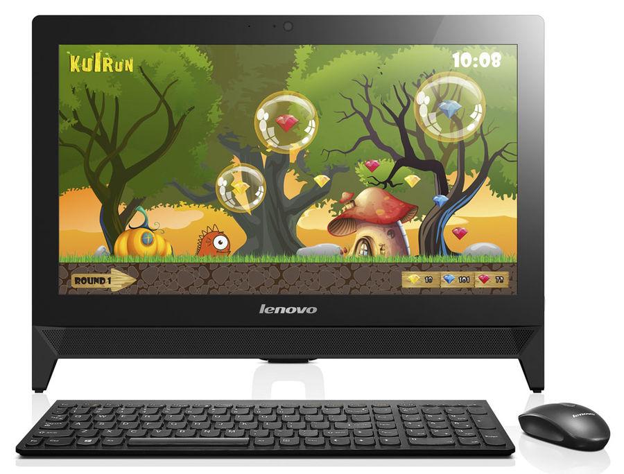 Моноблок LENOVO C20-30, Intel Pentium 3825U, 4Гб, 500Гб, nVIDIA GeForce 820 - 2048 Мб, DVD-RW, Windows 10, черный [f0b200byrk]