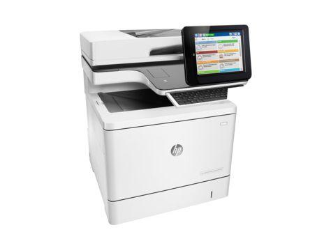 МФУ HP Color LaserJet Enterprise M577c,  A4,  цветной,  лазерный,  белый [b5l54a]