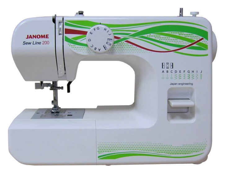 Швейная машина JANOME Sew Line 200 белый смартфон vertex impress tiger 4g gold mediatek mt6737 1gb 8gb 5 1280x720 8mpix 5mpix 2 sim 3g lte bt wi fi gps android 7 0