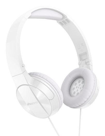 Наушники с микрофоном PIONEER SE-MJ503T, 3.5 мм, мониторы, белый [se-mj503t-w]