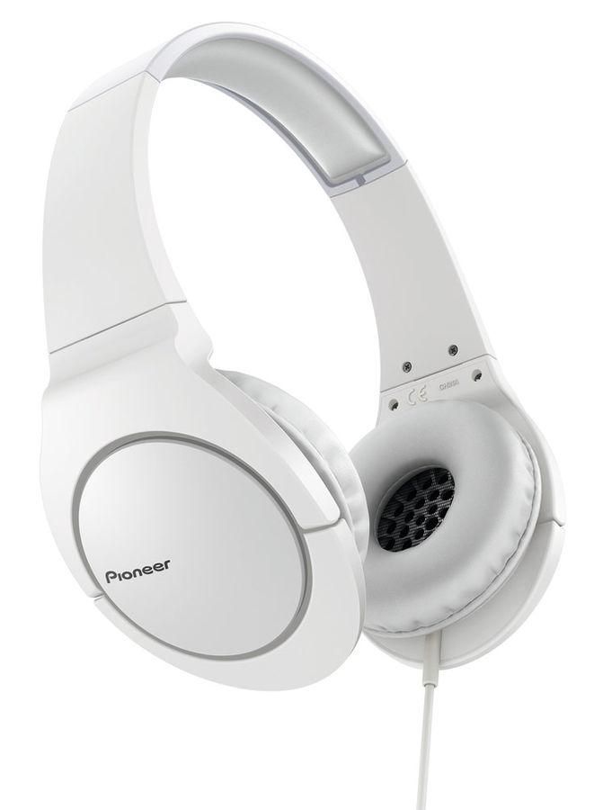 Наушники PIONEER SE-MJ741-W, мониторы,  белый, проводные