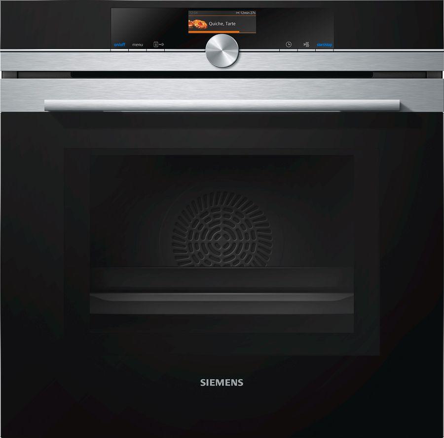 Духовой шкаф SIEMENS HM636GNS1,  черный