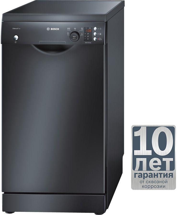 Посудомоечная машина BOSCH SPS53E06RU,  узкая, черный