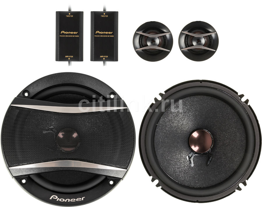 Колонки автомобильные PIONEER TS-A173CI,  компонентные,  350Вт