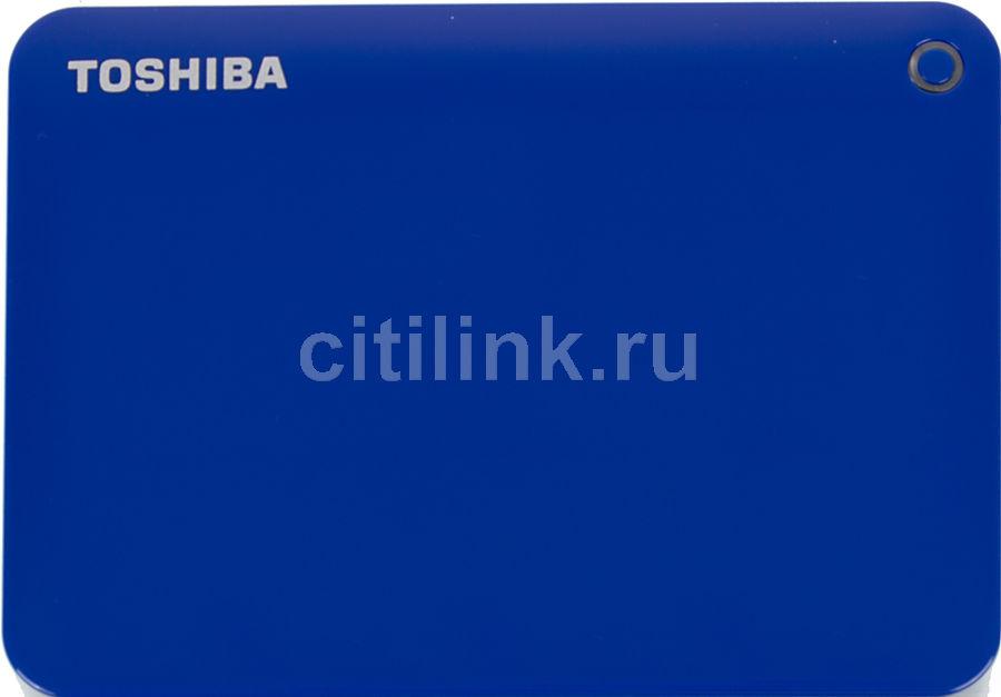 Внешний жесткий диск TOSHIBA Canvio Connect II HDTC830EL3CA, 3Тб, голубой