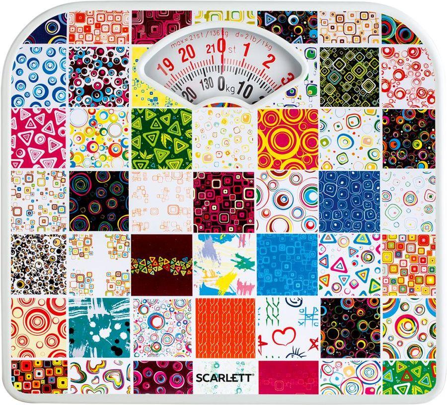 Весы SCARLETT SC-BS33M041, до 130кг, цвет: рисунок/мозайка [sc - bs33m041]