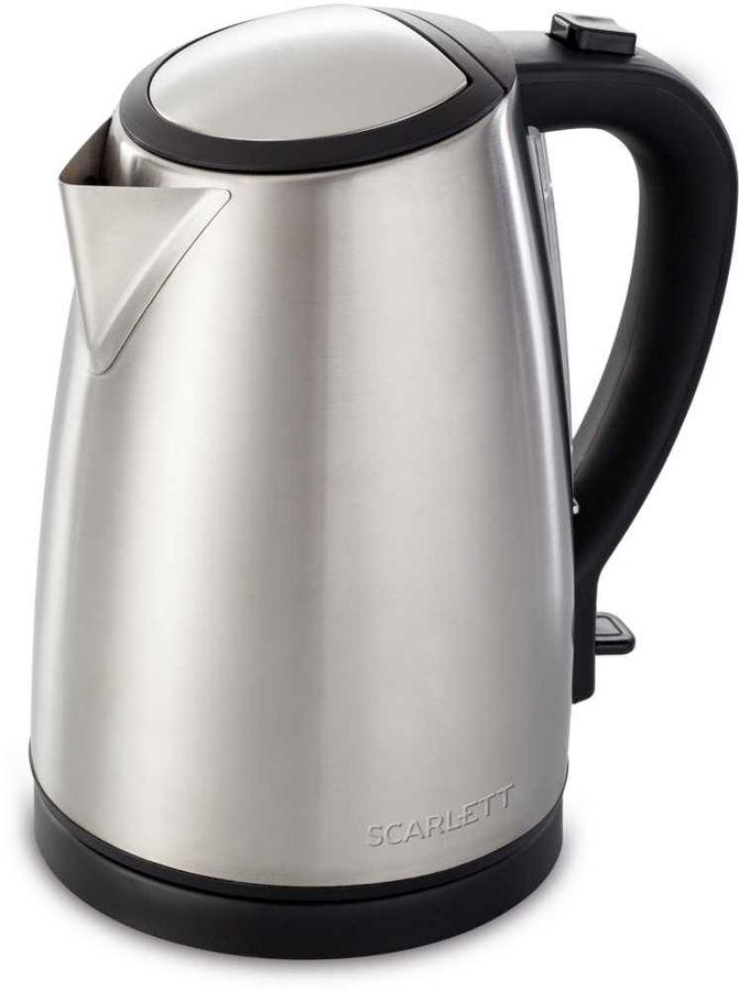 Чайник электрический SCARLETT SC-EK21S27, 1800Вт, серебристый и черный