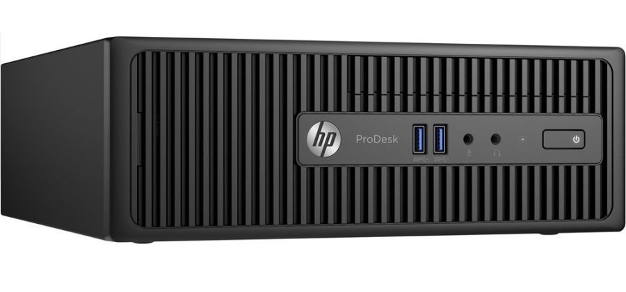 Компьютер  HP ProDesk 400 G3,  Intel  Core i3  6100,  DDR4 4Гб, 500Гб,  Intel HD Graphics 530,  DVD-RW,  Windows 7 Professional,  черный [t4r69ea]
