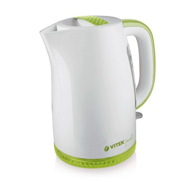Чайник электрический VITEK VT-1175-G, 2200Вт, белый и зеленый