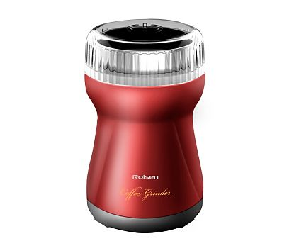 Кофемолка ROLSEN RCG-151,  красный