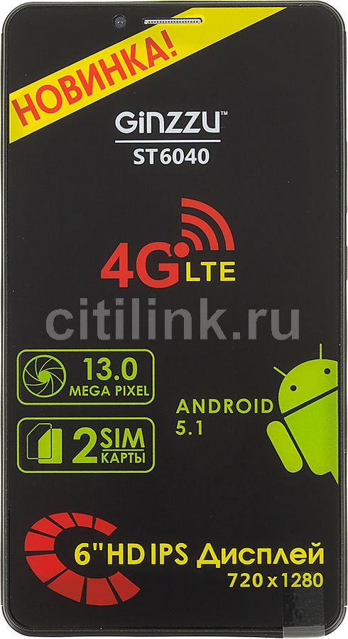 Смартфон GINZZU ST6040  черный