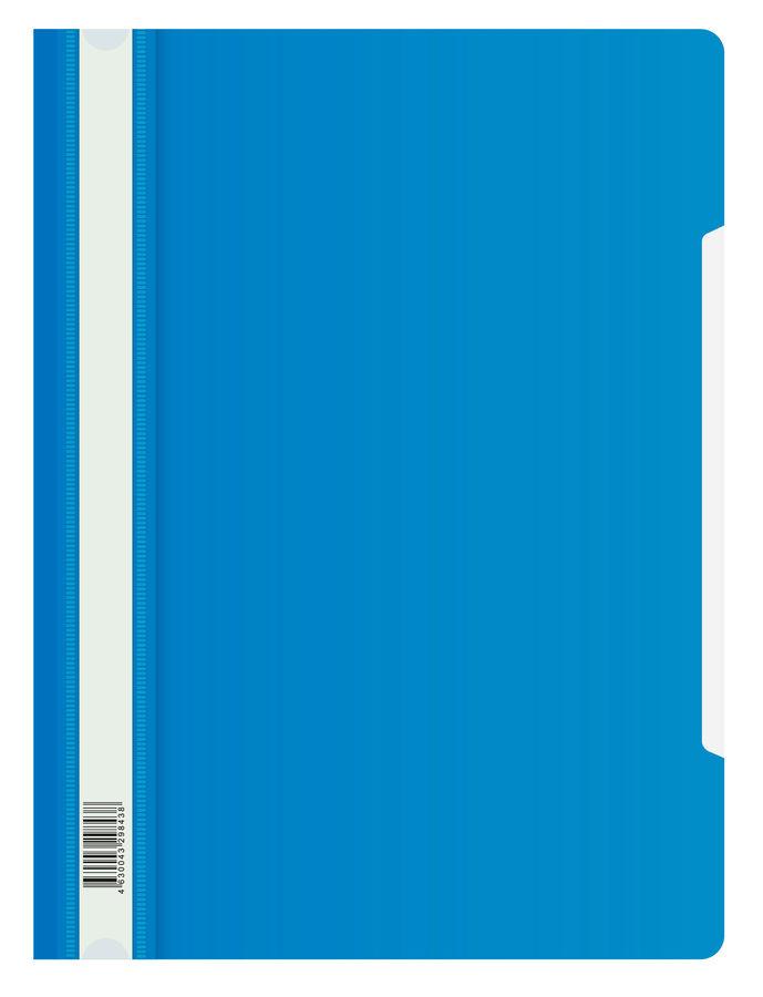Папка-скоросшиватель Бюрократ Люкс -PSL20BLUE A4 прозрач.верх.лист пластик синий 0.14/0.18