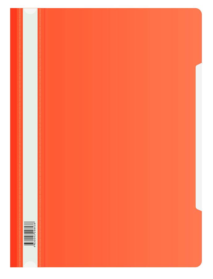 Папка-скоросшиватель Бюрократ Люкс -PSL20RED A4 прозрач.верх.лист пластик красный 0.14/0.18