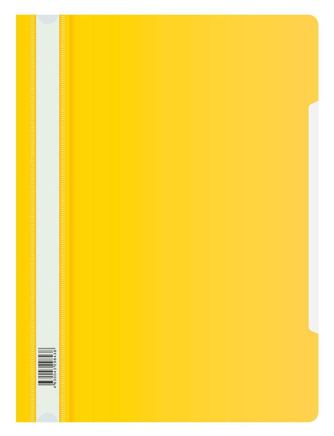 Папка-скоросшиватель Бюрократ Люкс -PSL20YEL A4 прозрач.верх.лист пластик желтый 0.14/0.18